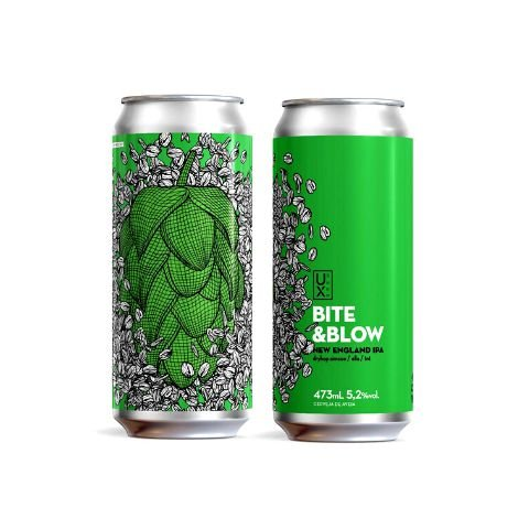 Cerveja UX Brew Bite & Blow New England IPA Lata - 473ml