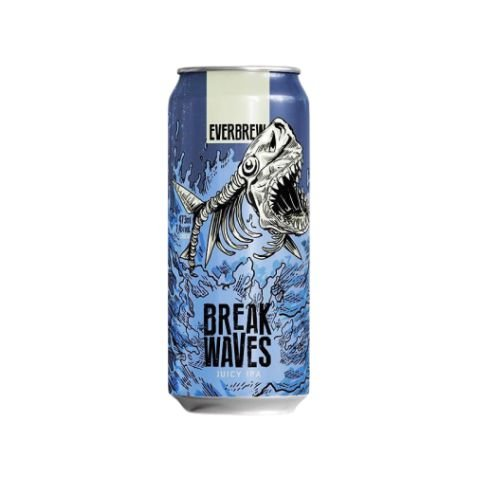 Cerveja EverBrew Break Waves Juicy IPA Lata - 473ml