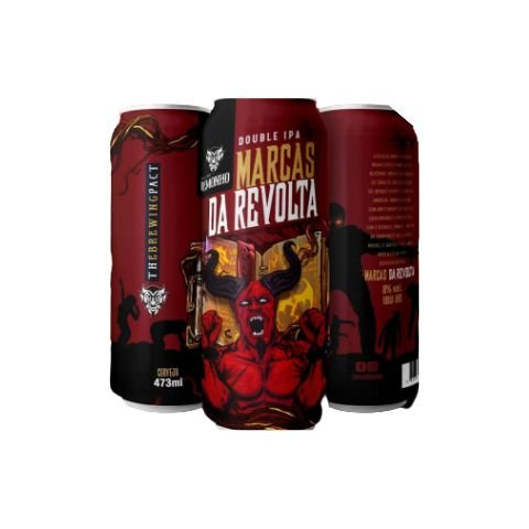 Cerveja Demonho Marcas da Revolta Double IPA Lata - 473ml