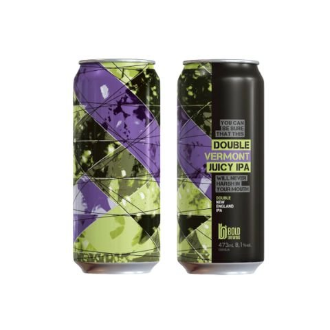 Cerveja Bold Brewing Double Vermont Juicy IPA Double New England IPA Lata - 473ml