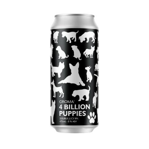 Cerveja Croma 4 Billion Puppies Double Juicy IPA Lata - 473ml
