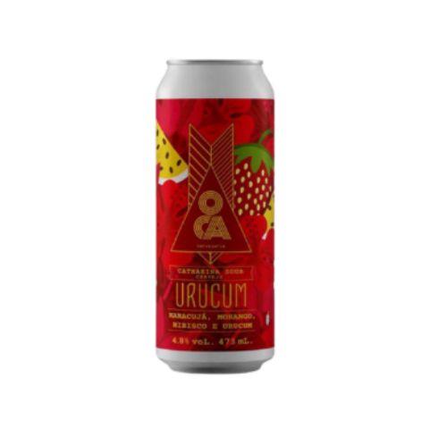 Cerveja Oca Urucum Fruited Sour Ale C/ Morango, Maracujá, Hibisco e Urucum Lata - 473ml