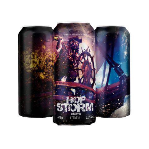 Cerveja Under Tap + Cia Hop Hop Storm New England IPA Lata - 473ml