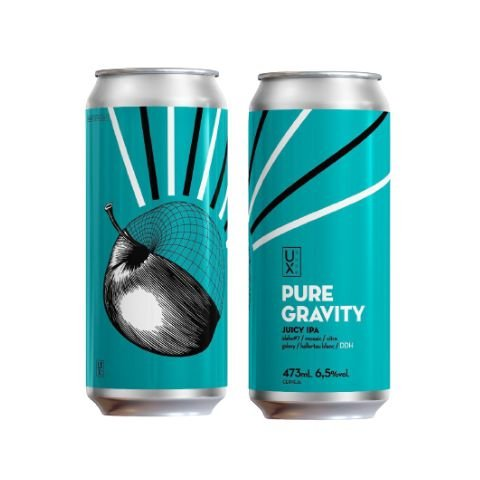 Cerveja Ux Brew Pure Gravity Juicy IPA Lata - 473ml