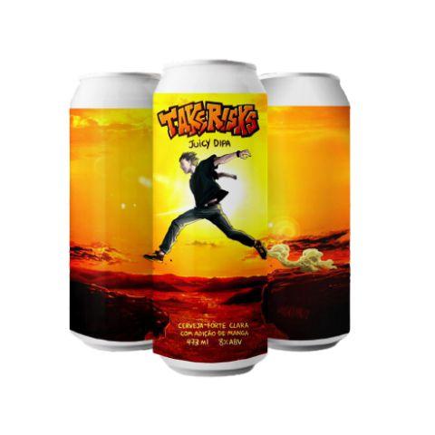 Cerveja Overall Take Risks Juicy Double IPA C/ Manga Lata - 473ml