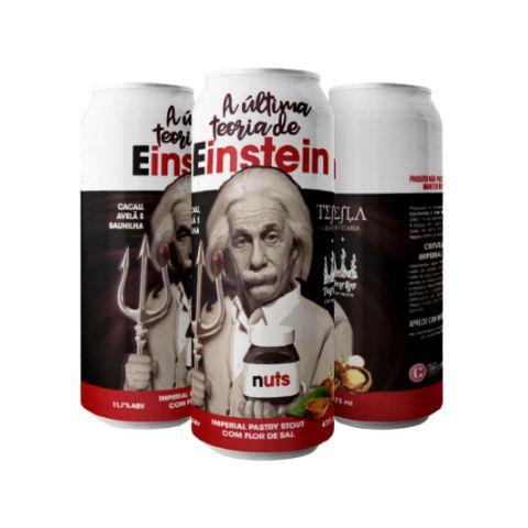 Cerveja Tesla + Dear Hop A Última Teoria de Einstein Imperial Pastry Stout C/ Cacau, Avelã, Baunilha e Flor de Sal Lata - 473ml