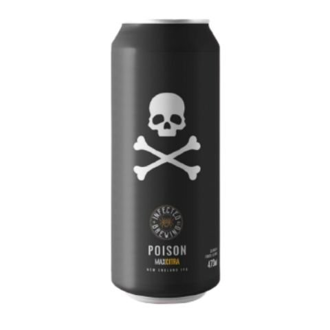 Cerveja Infected Brewing Poison Max New England IPA Lata - 473ml