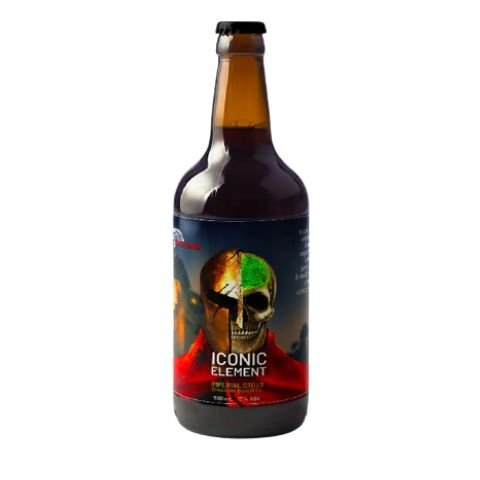 Cerveja 5 Elementos + Spartacus Iconic Element Chocolate Biscuit Edition Imperial Pastry Stout C/ Biscoito de Chocolate - 500ml