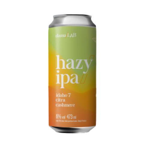 Cerveja Dama Bier Dama Lab #5 Hazy IPA Idaho 7, Citra e Cashmere Lata - 473ml