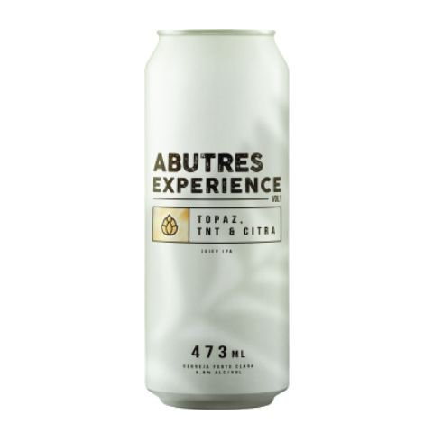 Cerveja Abutres Experience Vol 1 Topaz, TNT & Citra Juicy IPA Lata - 473ml