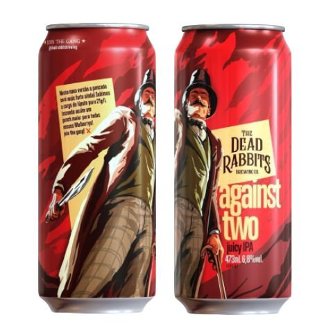 Cerveja Dead Rabbits Against Two Juicy IPA Lata - 473ml