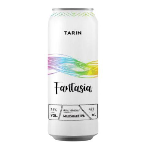 Cerveja Tarin Fantasia Frutas Vermelhas Milkshake IPA C/ Framboesa, Morango, Baunilha e Lactose Lata - 473ml