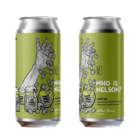 Cerveja UX Brew Who Is Nelson? Juicy IPA Lata - 473ml