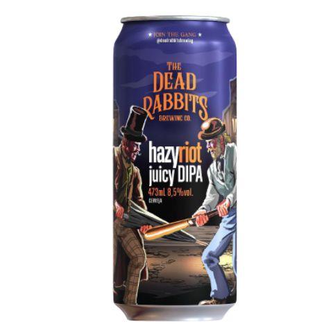 Cerveja Dead Rabbits Hazy Riot Juicy Double IPA Lata - 473ml