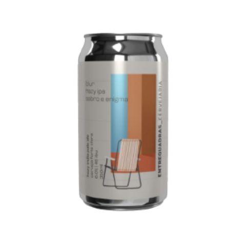 Cerveja Entrequadras Blur Hazy IPA Sabro e Enigma Lata - 350ml