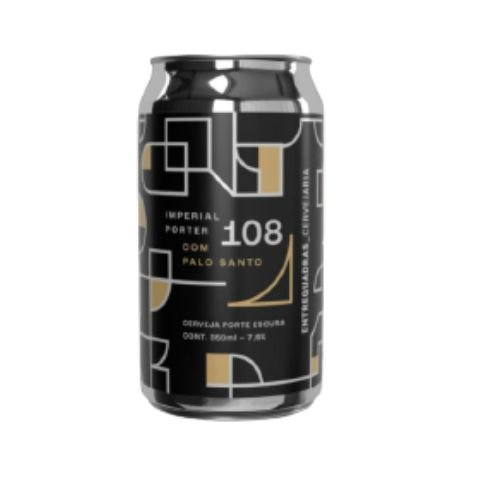 Cerveja Entrequadras 108 Imperial Porter C/ Palo Santo Lata - 350ml