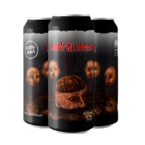Cerveja Quatro Graus Black Anthrax 2020 Brazilian Extreme Stout C/ Café, Baunilha e Carvalho Lata - 473ml