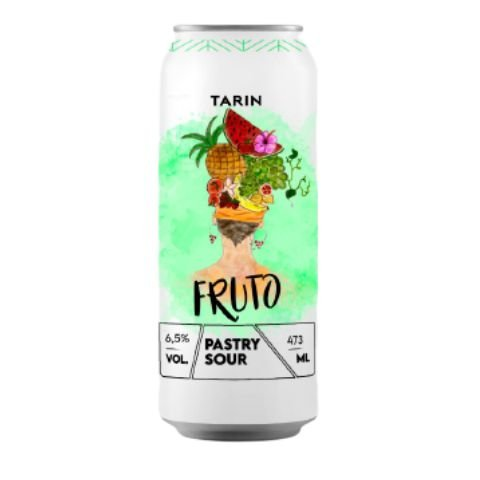 Cerveja Tarin Fruto Pastry Sour C/ Cupuaçu, Morango, Seriguela, Framboesa e Cacau Lata - 473ml