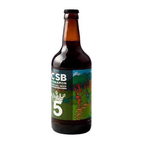Cerveja 5 Elementos Onde Está O Gole? CSB Cinnamon Special Beer Imperial Stout C/ Canela e Café - 500ml