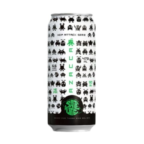 Cerveja Satélite Hop Attack Azacca New England IPA Lata - 473ml