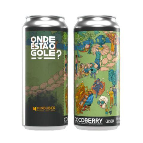 Cerveja MinduBier Onde Está O Gole CocoBerry Sour Ale C/ Framboesa, Coco e Baunilha Lata - 473ml