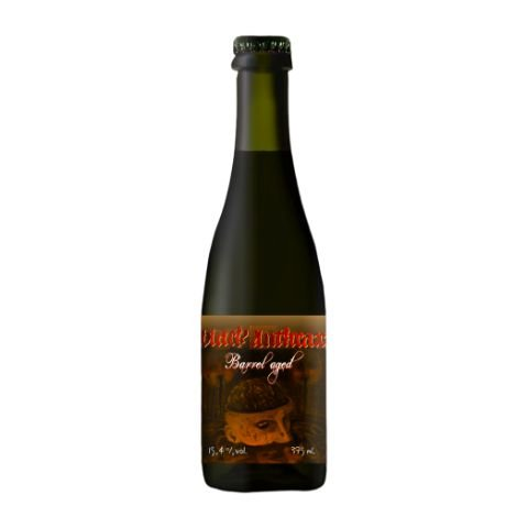 Cerveja Quatro Graus Black Anthrax Barrel Aged (2019) Brazilian Extreme Imperial Stout Whisky Barrel Aged - 375ml