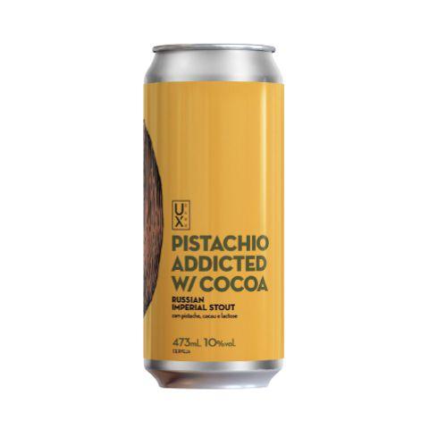 Cerveja UX Brew Pistachio Addicted W/ Cocoa Russian Imperial Stout C/ Pistache, Cacau e Lactose Lata - 473ml