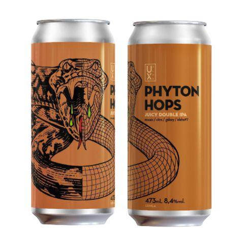 Cerveja UX Brew Phyton Hops Juicy Double IPA Lata - 473ml