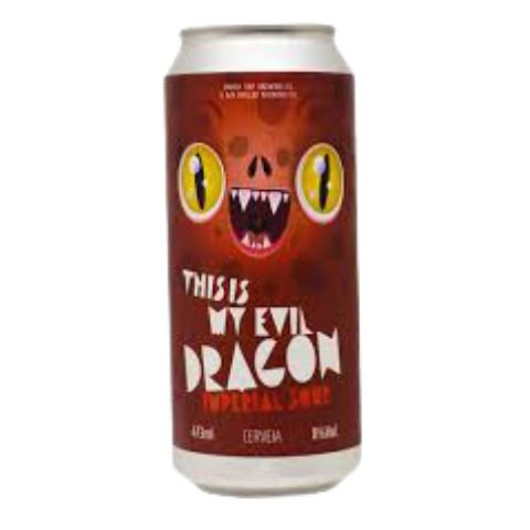 Cerveja Under Tap + My Rulles This Is My Evil Dragon Imperial Sour C/ Amora, Framboesa, Pitaya e Blueberry Lata - 473ml