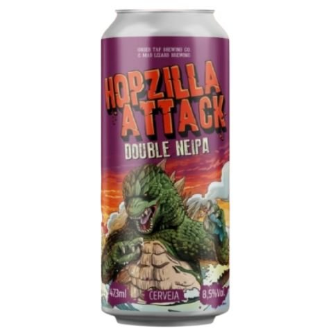 Cerveja Under Tap + Mad Lizard Hopzilla Attack Double New England IPA Lata - 473ml