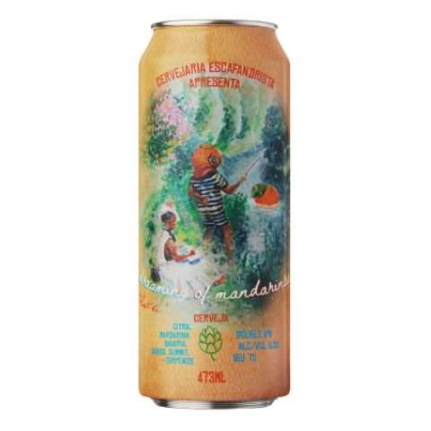 Cerveja Escafandrista Dreaming of Mandarinas Double IPA C/ Terpenos Lata - 473ml