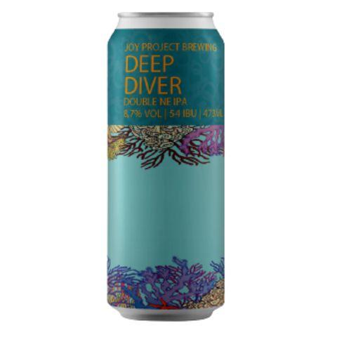 Cerveja Joy Project Deep Diver Double New England IPA Lata - 473ml