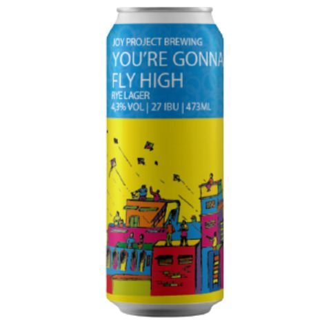 Cerveja Joy Project You're Gonna Fly High Rye Lager Lata - 473ml