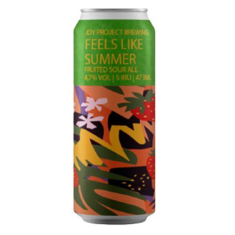 Cerveja Joy Project Feels Like Summer Fruited Sour Ale C/ Morango Lata - 473ml