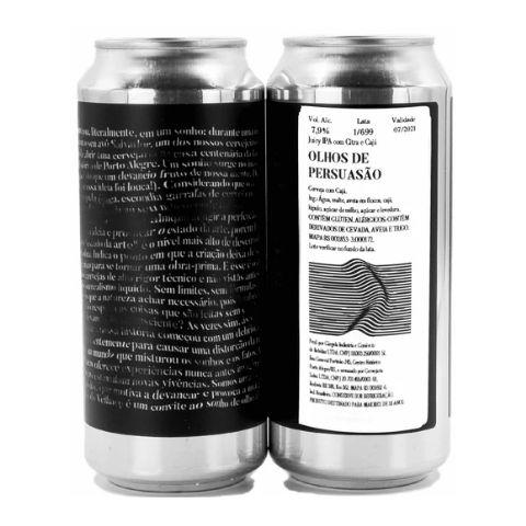 Cerveja Devaneio do Velhaco Olhos de Persuasão Juicy IPA C/ Cajá Lata - 473ml