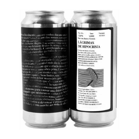 Cerveja Devaneio do Velhaco Lágrimas de Hipocrisia Sour C/ Amora e Graviola Lata - 473ml
