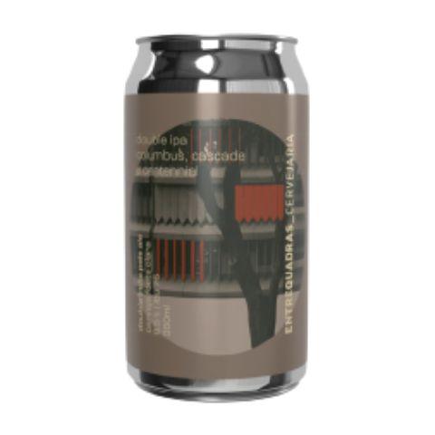 Cerveja Entrequadras Double IPA Columbus, Cascade e Centennial Lata - 350ml