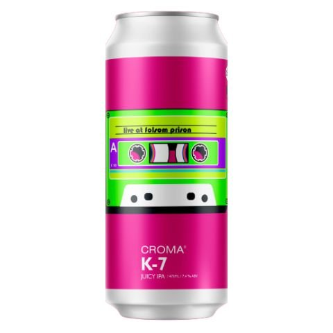 Cerveja Croma K-7 Live At Folsom Prison Juicy IPA Lata - 473ml