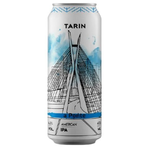 Cerveja Tarin A Ponte American IPA Lata - 473ml