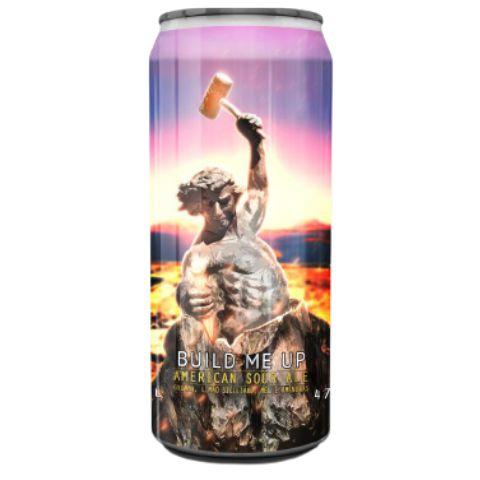 Cerveja Spartacus Build Me Up American Sour Ale C/ Goiaba, Limão Siciliano, Mel e Amêndoas Lata - 473ml