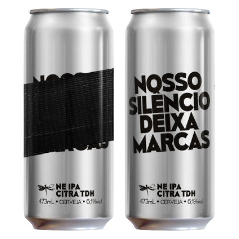 Cerveja Dádiva Nosso Silêncio Deixa Marcas TDH New England IPA Lata - 473ml
