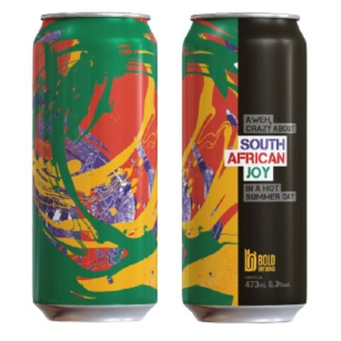 Cerveja Bold Brewing South African Joy New England IPA Lata - 473ml