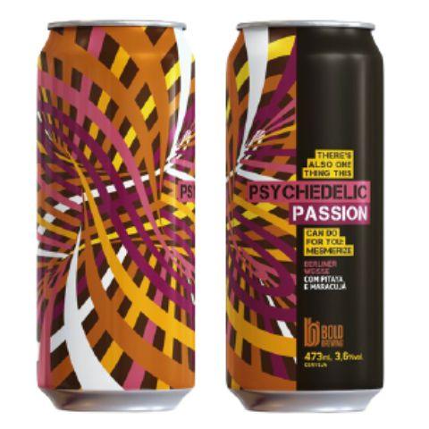 Cerveja Bold Brewing Psychedelic Passion Berliner Weisse C/ Pitaya e Maracujá Lata - 473ml