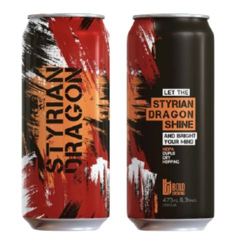 Cerveja Bold Brewing Styrian Dragon Shine DDH New England IPA Lata - 473ml