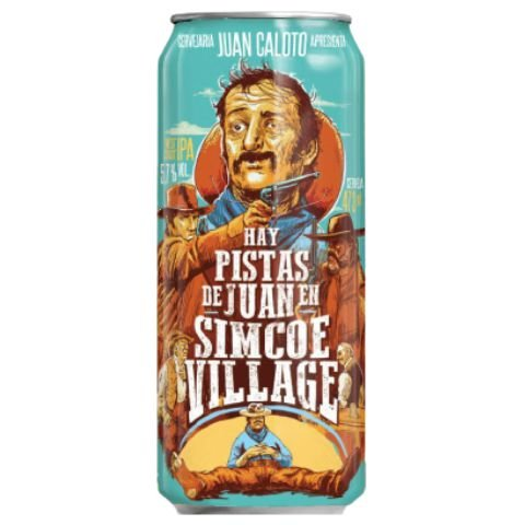 Cerveja Juan Caloto Hay Pistas de Juan En Simcoe Village West Coast IPA Lata - 473ml