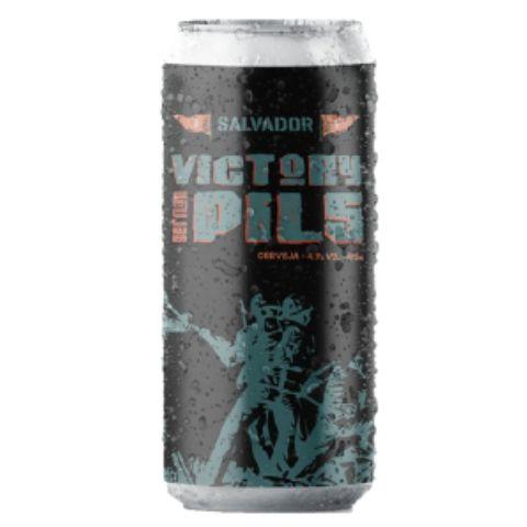 Cerveja Salvador Brewing Co Victory Pils German Pils Lata - 473ml
