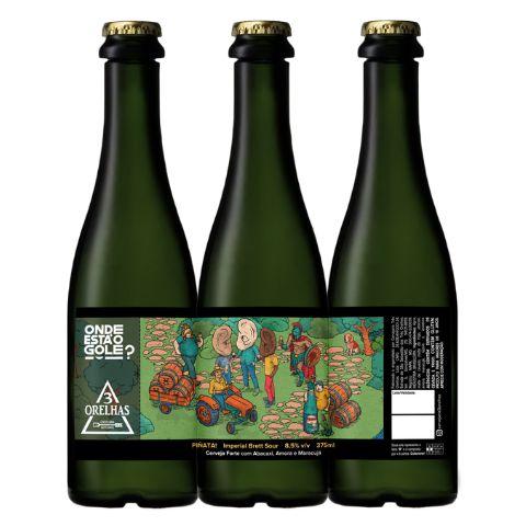 Cerveja 3 Orelhas Onde Está O Gole? Piñata Imperial Brett Sour C/ Abacaxi, Amora e Maracujá - 375ml