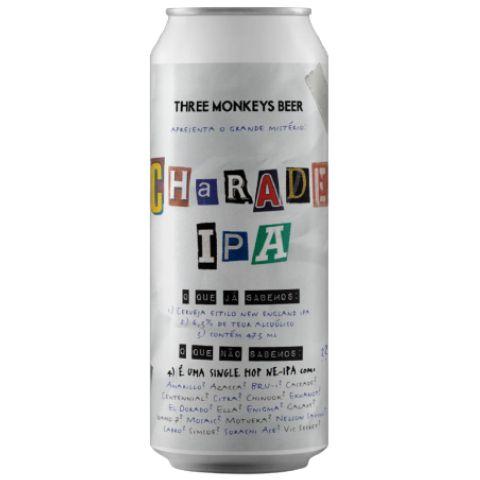 Cerveja Three Monkeys Charade IPA New England IPA Lata - 473ml