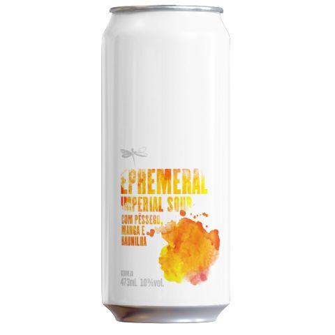 Cerveja Dádiva Ephemeral Pêssego + Manga Imperial Sour C/ Pêssego, Manga e Baunilha Lata - 473ml