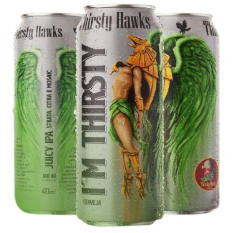 Cerveja Thirsty Hawks I'm Thirsty Juicy IPA Lata - 473ml